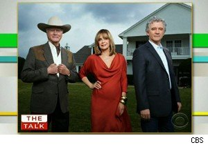 The 'Dallas' cast, Larry Hagman, Linda Gray, and Patrick Duffy - Duffy spoke about the reunion on 'The Talk'