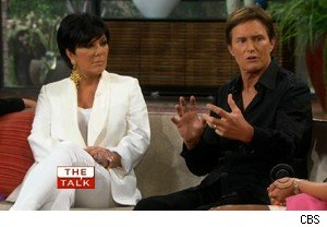 Kris and Bruce Jenner of 'Keeping Up With the Kardashians' on 'The Talk'