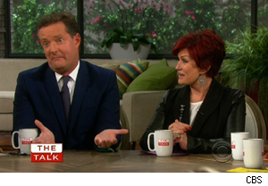 Piers Morgan and Sharon Osbourne on 'The Talk'