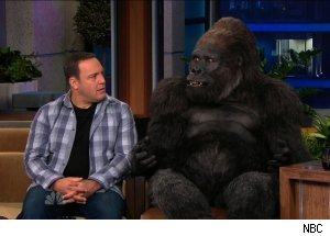 Kevin James &amp; Bernie the Gorilla, 'The Tonight Show with Jay Leno'