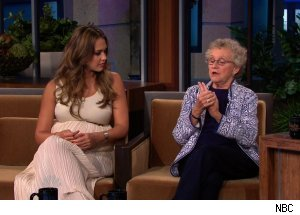 Jessica Alba &amp; Sue Johanson, 'The Tonight Show with Jay Leno'