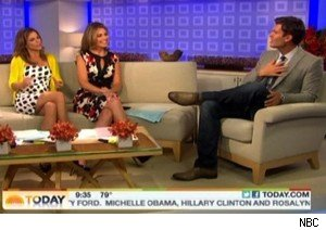 Natalie Morales and Savannah Guthrie with Jeff Lewis of 'Flipping Out' on 'Today'