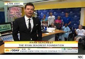 Ryan Seacrest at the Children's Hosptial of Philadelphia on 'Today'