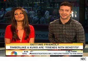 Mila Kunis and Justine Timberlake talk 'Friends With Benefits' and Marines Balls on 'Today'