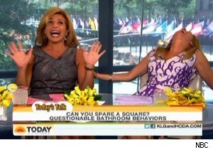 Hoda Kotb and Kathie Lee Gifford on cell phone use in the toilet on 'Today'