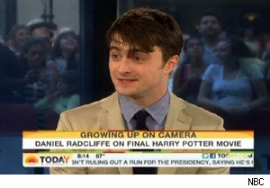 Daniel Radcliffe of 'Harry Potter and the Deathly Hallows - Part 2' on 'Today'