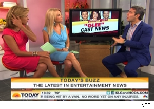 Hoda Kotb and Kathie Lee Gifford talk to Andy Cohen about 'Glee' casting news on 'Today'
