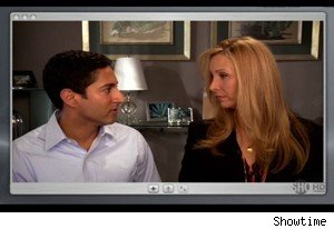 Maulik Pancholy and Lisa Kudrow on 'Web Therapy'