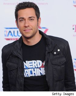 Zachary Levi sporting Nerd Machine apparel