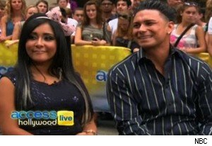 Snooki and Pauly D on 'Access Hollywood Live'