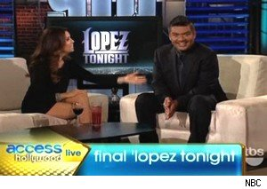 Eva Longoria and George Lopez on the Final 'Lopez Tonight' on 'Access Hollywood Live'
