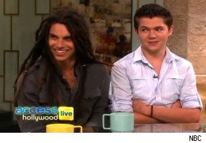 'Glee Project' winners Samuel Larsen and Damian McGinty on 'Access Hollywood Live'