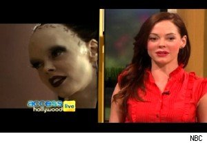 Marique from 'Conan the Barbarian' and Rose McGowan on 'Access Hollywood Live'