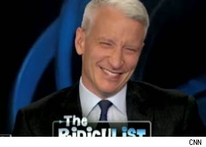 Anderson Cooper has a giggle fit.