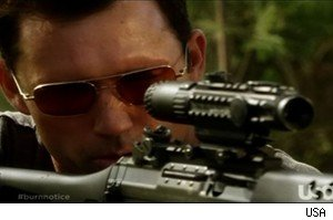 Michael takes aim on 'Burn Notice'