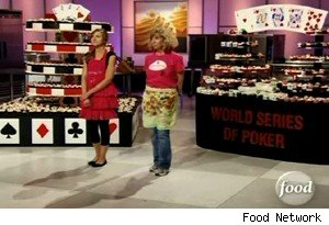 Cupcake displays for the World Series of Poker on 'Cupcake Wars'