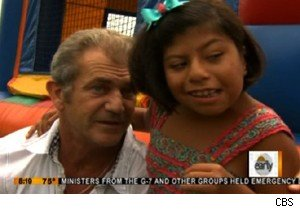Mel Gibson celebrates the 10th birthday of Guatemalan formerly conjoined twins on 'The Early Show'