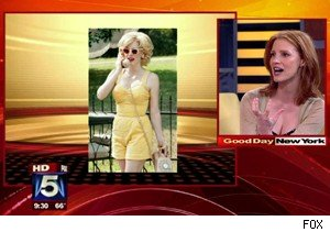 Jessica Chastain and her character from 'The Help' on 'Good Day New York'