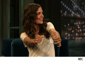 Katie Holmes on Jimmy Fallon