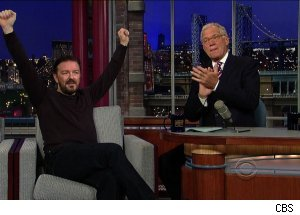 Ricky Gervais, 'Late Show with David Letterman'