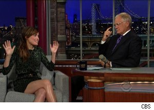 Rose Byrne, 'Late Show with David Letterman'
