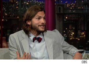 Ashton Kutcher, 'Late Show with David Letterman'