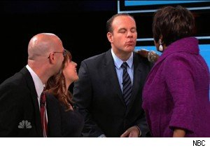 Anton and Bobbi Kukal watch Patti LaBelle and Tom Papa smooch on 'The Marriage Ref'