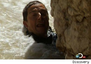 Bear Grylls beats the Utah wilderness on 'Man Vs Wild'