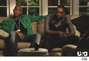 TK and his new life coach, Lazarus Rollins, on 'Necessary Roughness'