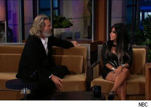 Jeff Bridges &amp; Nicole 'Snooki' Polizzi, 'The Tonight Show with Jay Leno'