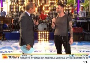 Matt Lauer and Adam Levine on 'Today'