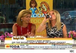 Hoda Kotb watches Kathie Lee Gifford down cough syrup on 'Today'
