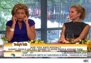 Hoda Kotb demonstrates her method for ignoring people using headphones on 'Today'
