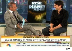 Matt Lauer and James Franco discuss 'Rise of the Planet of the Apes' on 'Today' 