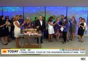 Kathie Lee Gifford and her birthday cake on 'Today'