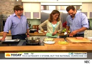 Wolfgang Ban and Eduard Frauneder make wiener schnitzel on 'Today'