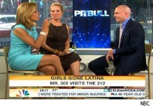 Kathie Lee Gifford and Hoda Kotb with Pitbull on 'Today'