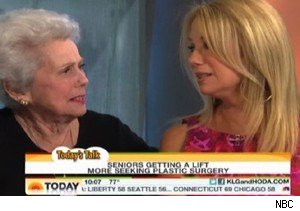 Kathie Lee Gifford with her mother, Joan Epstein, on 'Today'