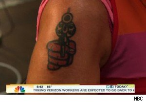 Eileen Hickey-Hulme's tattoo on 'Today' 