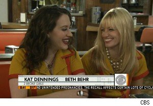Kat Dennins and Beth Behr of '2 Broke Girls' on 'The Early Show'