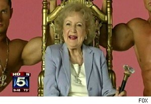 Betty White on Luciana's video set on 'Good Day New York'