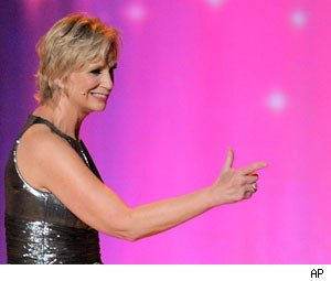 Emmy Insults! Host Jane Lynch Zings Betty White, Katie Holmes, and Ricky Gervais