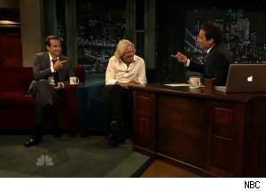 Richard Branson &amp; Will Arnett, 'Late Night with Jimmy Fallon'