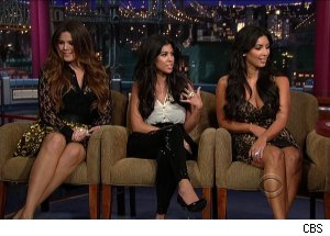 Khloe, Kourtney &amp; Kim Kardashian, 'Late Show with David Letterman'