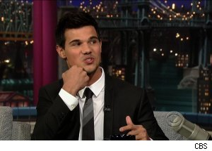 Taylor Lautner, 'Late Show with David Letterman'
