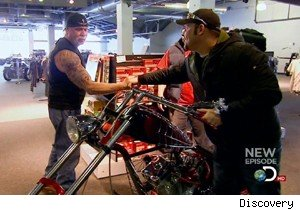 Paul Sr. Hands Over the Black Widow Bike to Paul Jr. on 'American
