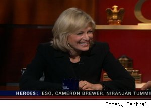 Diane Sawyer, 'The Colbert Report'