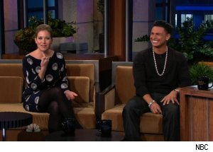 Christina Applegate &amp; DJ Pauly D, 'The Tonight Show with Jay Leno'