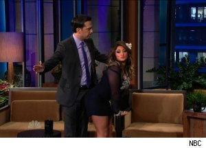 Ed Helms &amp; Deena Cortese, 'The Tonight Show with Jay Leno'