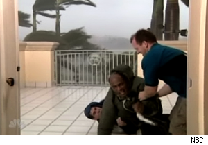 Al Roker in a hurricane on 'Today'